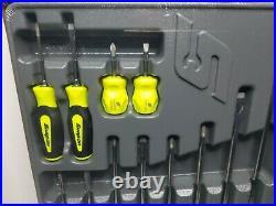 Snap On Tools 12Pc Soft Grip Combination Screwdriver Set SGDX120BHV Yellow