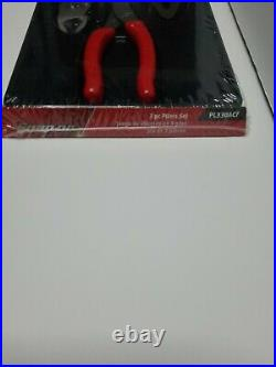 Snap On Tools New PL330ACF 3 pc Heavy-Duty Pliers Set (Red) Sealed In Package