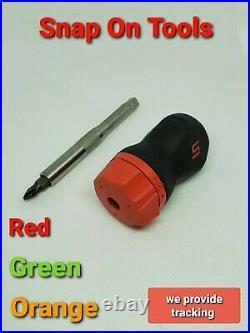 Snap On Tools SGDMRC11AG Ratcheting Soft Grip Pocket Screwdriver 3 Colors NEW