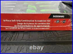 Snap On Tools Sgdx80b 8 Piece Soft Grip Screwdriver Set Sgdx80bg Green Mixed