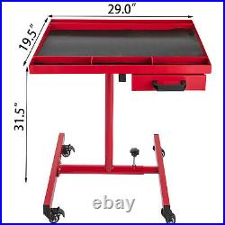VEVOR Tool Table Heavy Duty Rolling Work Table with Drawer 200 LBS Adjustable