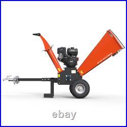 Wood Chipper Garden Shredder Petrol Heavy Duty Chipping 420cc Tool Kit