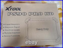 XTOOL PS90 PRO HD Heavy Duty 24V Trucks OBD2 Diagnostic Tool Auto Car Shop